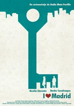 I love Madrid corto cartel poster