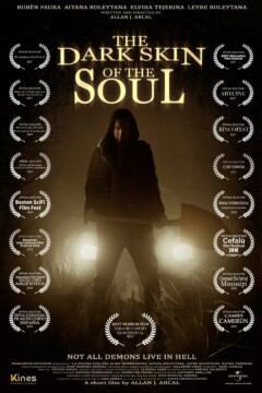La oscura piel del alma corto cartel poster