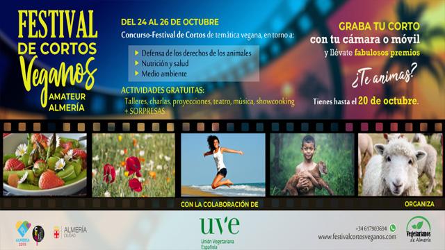 El I Festival de Cortos Veganos de Almería será el primero en Europa