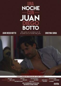 Una noche con Juan Diego Botto corto cartel poster