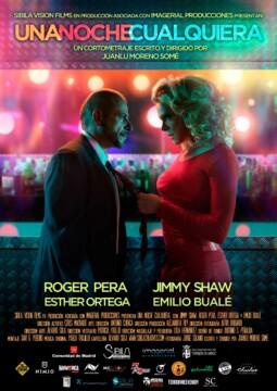 Una Noche Cualquiera corto cartel poster