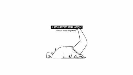 Monsters Walking. Cortometraje de animación de Diego Porral