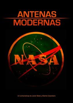 Antenas modernas corto cartel poster