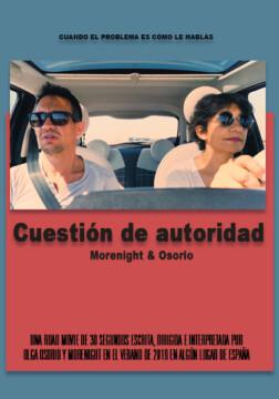 Cuestion de autoridad corto cartel poster
