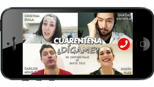 Cuarentena, ¿dígame?. Cortometraje y comedia española de David Díaz