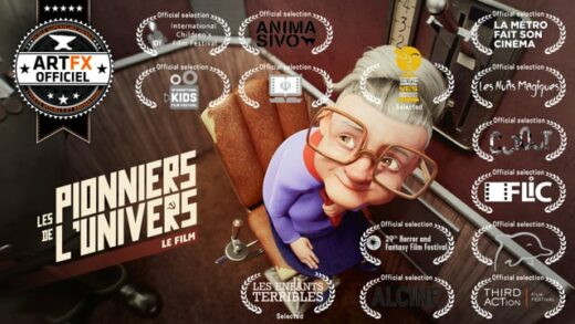 Les Pionniers de l'Univers. Corto de animación de Benjamin Bernon